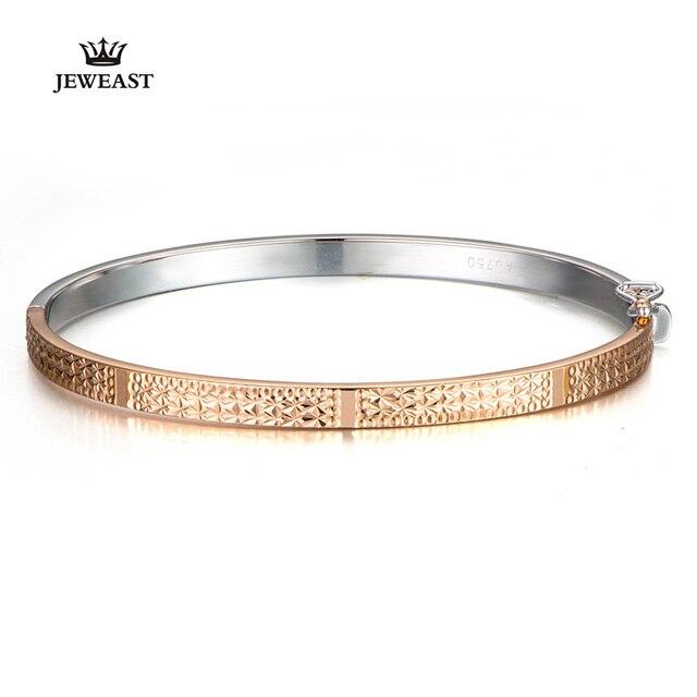 Pulsera de oro puro de 18K para mujer, brazalete de oro sólido auténtico AU 750, bonito y hermoso, joyería fina de fiesta clásica de lujo, producto en oferta 2020