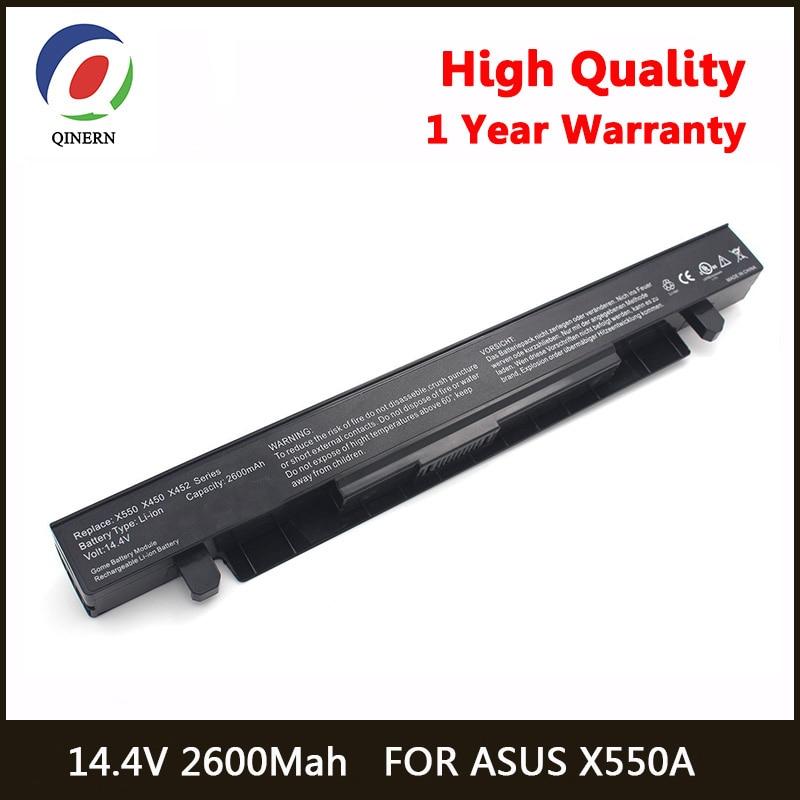 QINERN 2600 mAh 14.4 V A41-X550A Externe batterie d'ordinateur portable pour asus X550 X550C X550CA X550CC X550CL X550E X550L X550LN X550V X550VB
