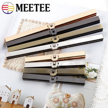 Meetee 2/5pcs 11.4/19cm Metal Wallet Frame Coins Buckles Purse Kisss Lock Clasp DIY Bag Parts Hardware Decor Accessories BF090