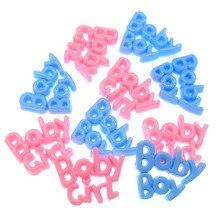 24 шт. пластиковые буквы амулеты для маленьких мальчиков и девочек, вечерние украшения для стола, 24x39 мм