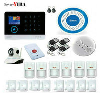 SmartYIBA RFID WIFI Wireless GSM SMS Home Emergency Alert Security Alarm System APP Control Alarmes With Security Camera