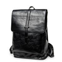 Men's Backpack Waterproof PU Leather Bags Fashion Boys School Bag Teenagers Luxury Designer Casual Large Laptop Bag Male