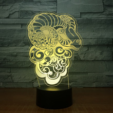 New personality gifts Seven color touch remote control decorative nightlights creative Acrylic