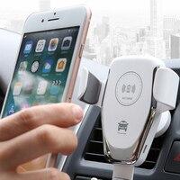 Автоматическое автомобильное зарядное устройство 10 Вт автомобильное беспроводное зарядное устройство для Xiaomi 9 IphoneX быстрое зарядное устр...