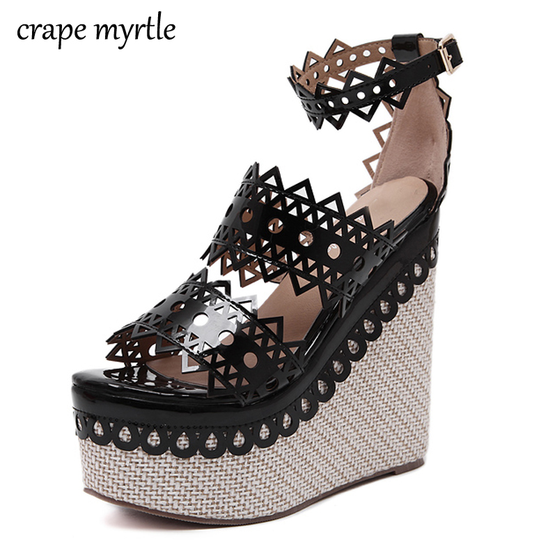 ladies gladiator sandals wedge shoes strappy High Heels shoes Platform sandals women summer shoes open toe Wedges sandals YMA206