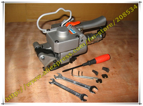 High Quality !XQD-19 Portable Pneumatic PET Strapping Tool,banding Tool ,Binding packing machine for 13-19mm PP Plastic Strap  цены