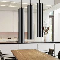 New Led Pendant Lamp Down Lights Kitchen Room Shop Decoration Cylinder Pipe Pendant Bar Counter Spot