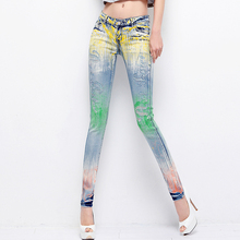 Cool Ripped Jeans Elastic Denim Low Waist Pencil Skinny Jeans Rhinestone Diamond Pencil Jeans Denim Pants Trousers Female