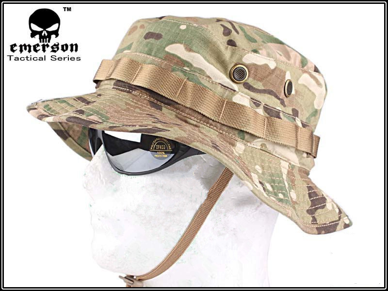 EMERSON Boonie Hat Military Tactical Army Hat Anti-scrape Grid Fabric Camouflage Hunting Hat Multicam EM8553