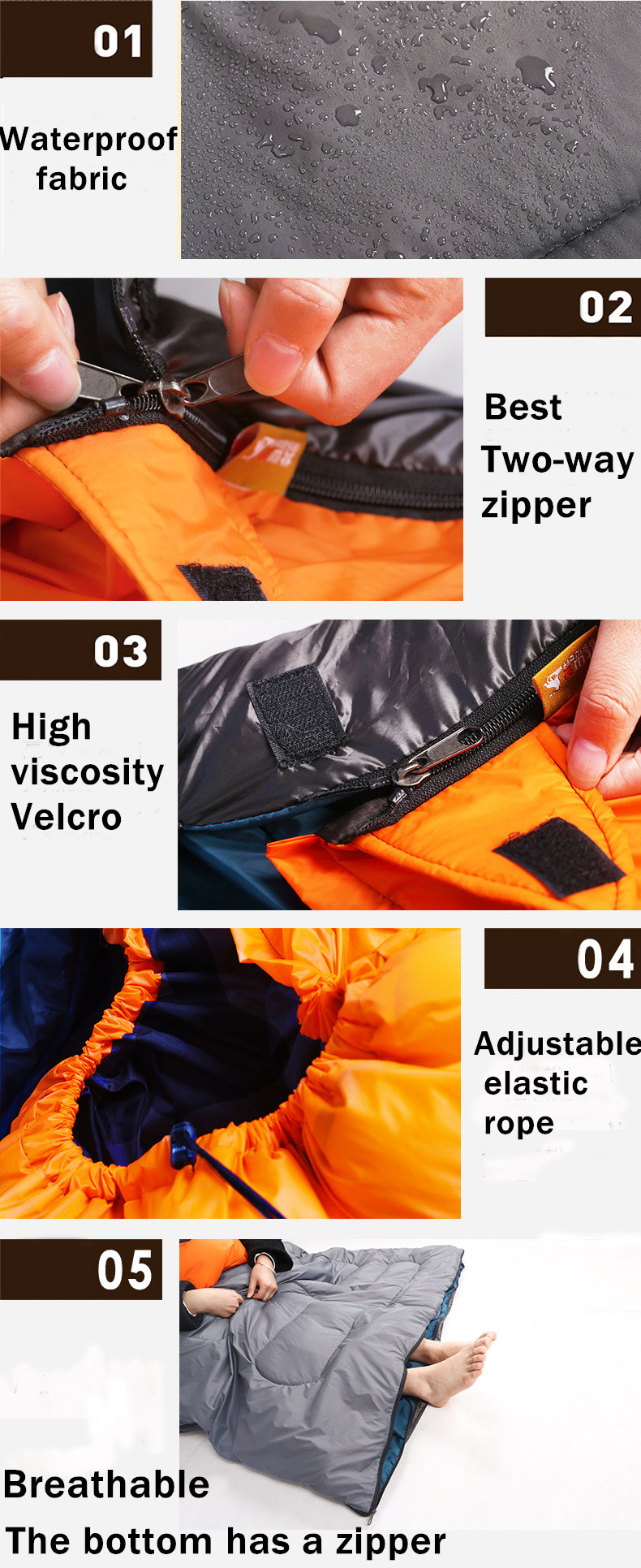 Sleeping Bag Couple with pillows outdoor camping indoor mat for lunch break portable Adult lover warm for four seasons (4)