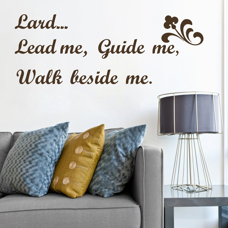 ebay hot lord lead me,guide me,walk beside me Vinyl Wall religious Quote sticker Lord decals home decor free shipping ...