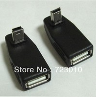 2pcs UP Down Angled 90 Degree Usb Mini B 5pin Male To A Converter Adapter M