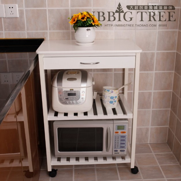 Widening Kitchen Storage Cabinets Microwave Oven Rack Shelving Wood Dining  Car Mobile Sideboard White Furniture Shipping In Sideboards From Furniture  On ...