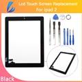 COMERCIANTE LL Calidad AAA Nuevo Reemplazo de la Pantalla Táctil Digitalizador para ipad 2 9.7 tablet panel de pantalla de cristal delantera negro envío kits de herramientas