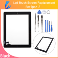 LL TRADER Quality AAA New Touch Screen Replacement DIgitizer for ipad 2 9.7 Tablet Panel Screen Front Glass Black Free Toolkits