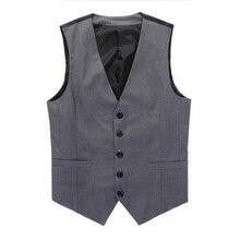 Men Formal Vest Fashion Business Brand Clothing Waistcoat Slim Wedding Suit Vest pure color Waistcoats high quality