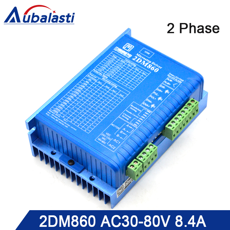 2 Phase Step motor  driver 2DM860  input voltage AC30-80V DC 40-110V match with 57 86 serial stop motor 2 Phase Step motor  driver 2DM860  input voltage AC30-80V DC 40-110V match with 57 86 serial stop motor