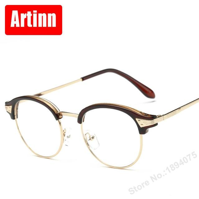 Beautiful glasses frame personality retro flat mirror men and women ...