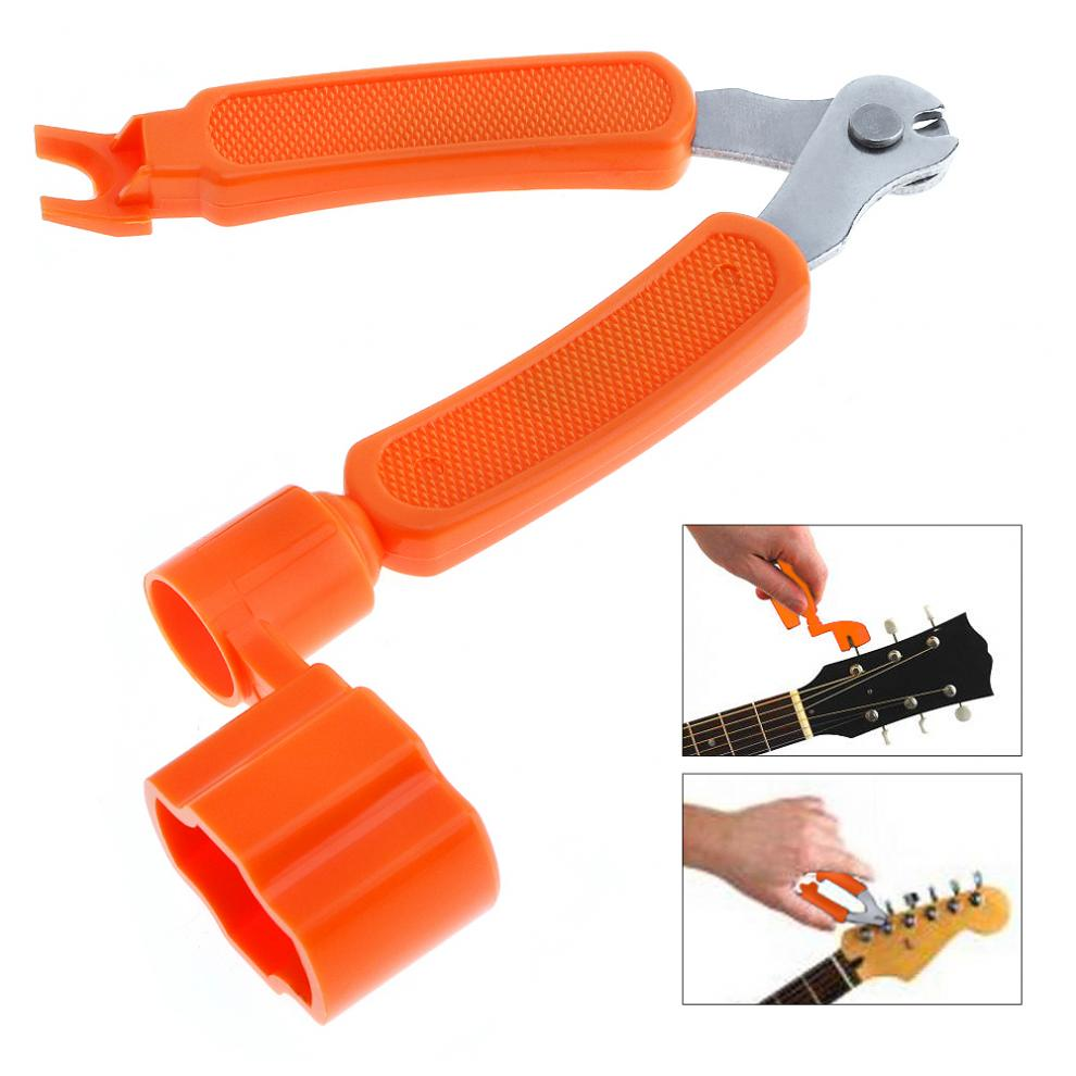 3 in 1 Multifunctional Guitar Ukulele Tool Winder + String Cutter + Pin Puller Instrument Accessories