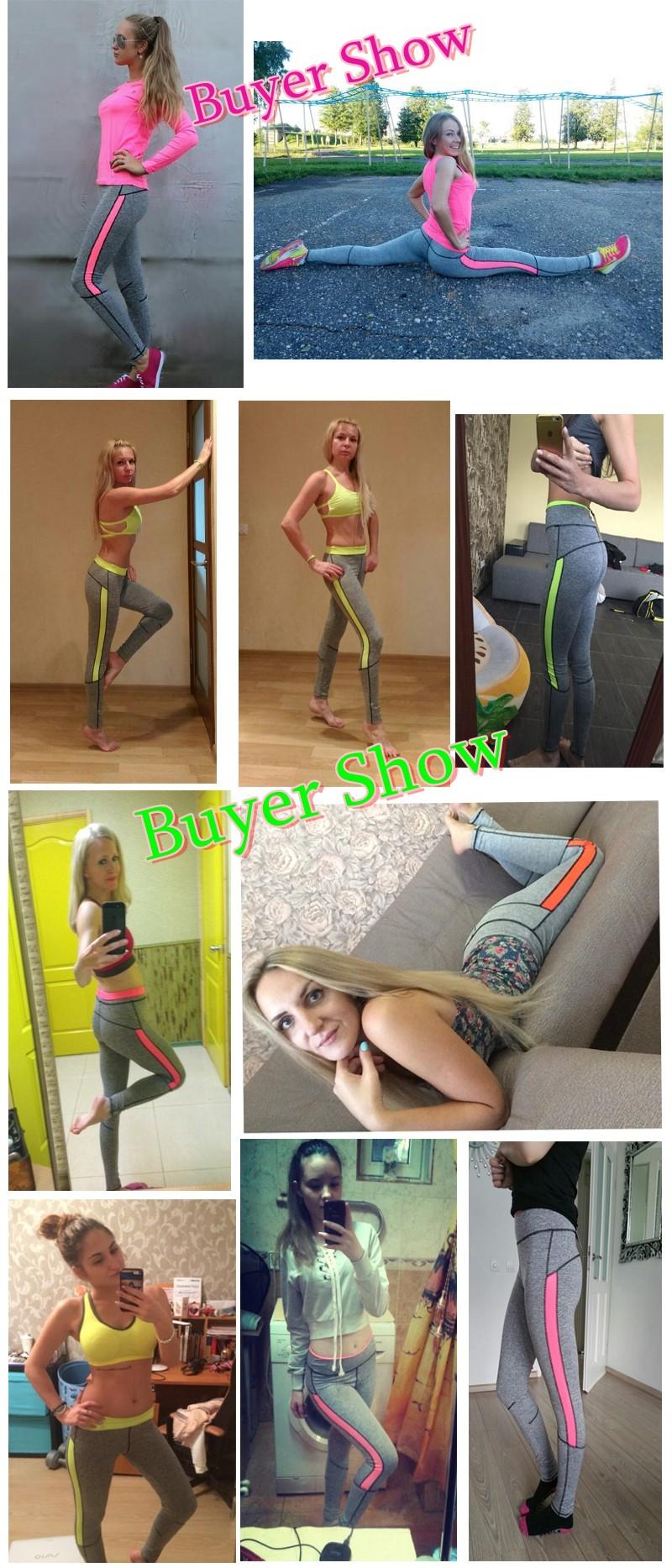 17 Women Lady Activewear Pink Legging Spring Summer light grey Pant Autumn High Waist Leggins 18 American Original Order 3