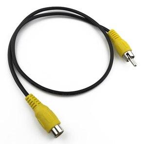 0,5 м и 1 м AV штекер к RCA разъему удлинитель AV Aux шнур RCA Aux кабель видео Линия для автомобильного аудио провода