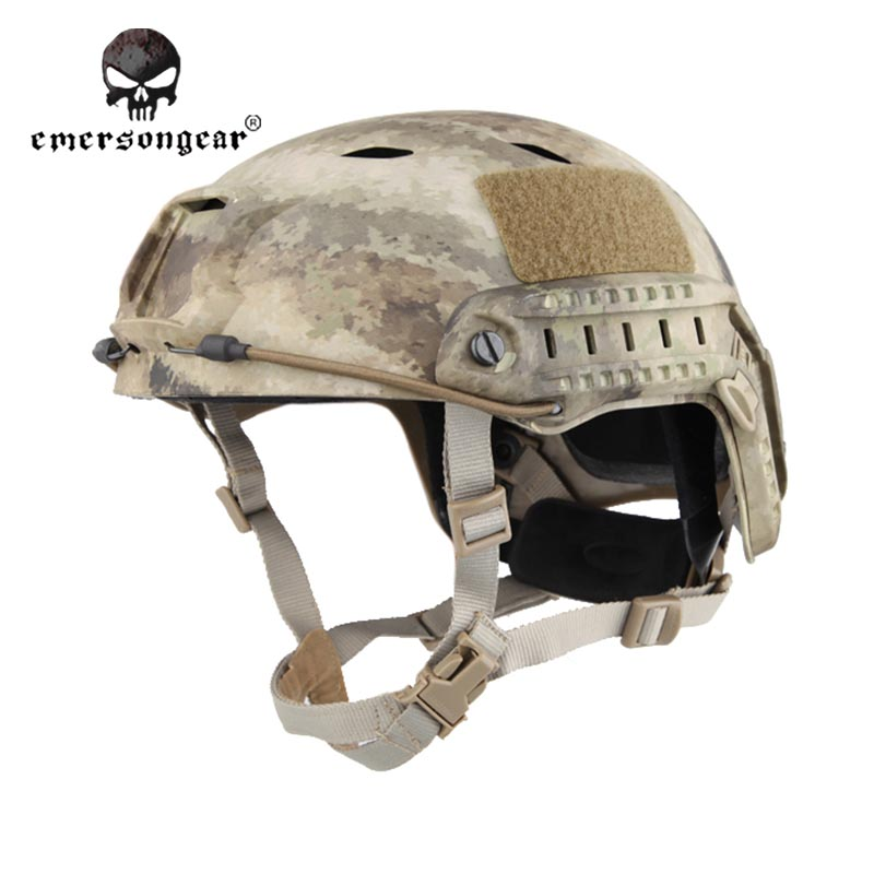 ФОТО Emersongear Fast Base Jump Hunting Wargame Adjustable Helmet Protective Helmet Emerson BJ Type EM5659F A-TACS