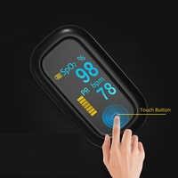 Toque em Tela Cheia Dedo oxímetro de pulso Médica pulsoxymeter Saturometro oxímetro de pulso OLED de oxigênio No Sangue Monitor de Freqüência Cardíaca