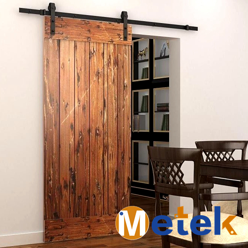 4.9FT/6FT/6.6FT Carbon steel modern interior wood sliding barn door rollers