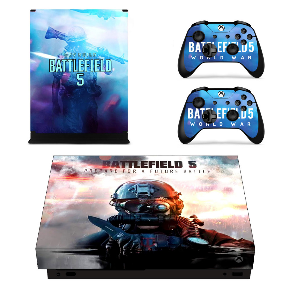 474c3a10d0af8b Battlefield 5 Skin Sticker Decal For Microsoft Xbox One X Console and Controllers  Skins Stickers for