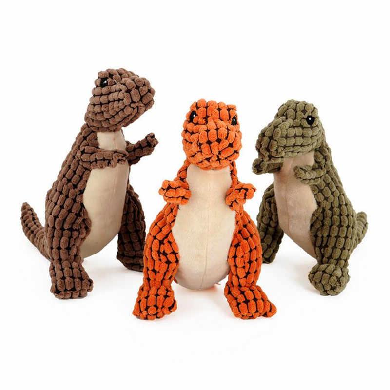 Sevimli Vahşi Kazlar Dinozor Hayvan Köpek Yavrusu Çiğnemek Oyuncak Gıcırtılı Peluş Kadife Ses Oyuncaklar
