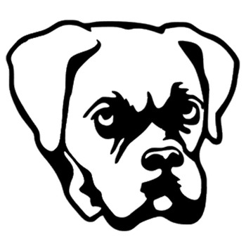 11.4*10.3CM Boxer Dog Car Stickers Cute Waterproof Vinyl Decal Motorcycle Car Styling Accessories Black/Silver S1-0569 image