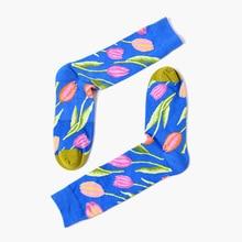 2017 Couple Ankle Socks Personalized Tide Brand Short Women's Socks Happy Home Four Seasons Cotton Funny Socks Chaussette