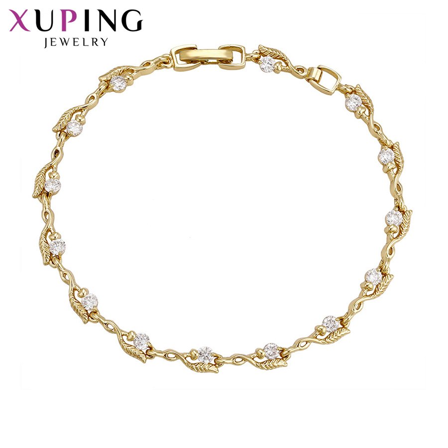 11.11 Deals Xuping Fashion Sweet Bracelet with Synthetic Cubic Zirconia for Women Thanksgiving Christmas Jewelry Gifts S65-72714 sweet women s cubic zirconia inlaid wavy bracelet