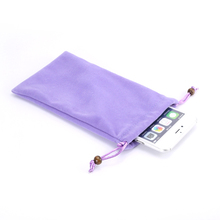 6 PCS/lot Universal Cotton Neck Strap Sleeve Phone Pouch Bag Case Cover for Below 5.0 inch Mobile Phones for iPhone 5 5s 6 6s