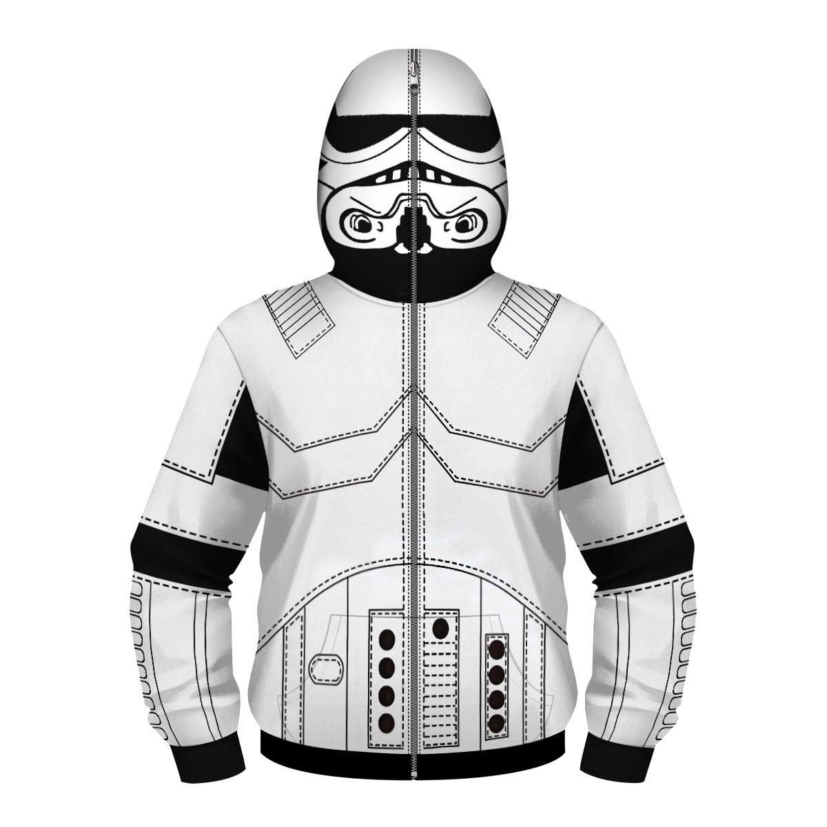 STAR WARS R2D2 - 3D Print Casual Pullovers Kid Autumn Masked Steetwear Hoodie Hip Hop Cosplay Hooded Sweatshirt