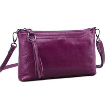 New first layer cow skin women messenger bag pure genuine leather ladies shoulder bags candy color mini bag clutch S-75