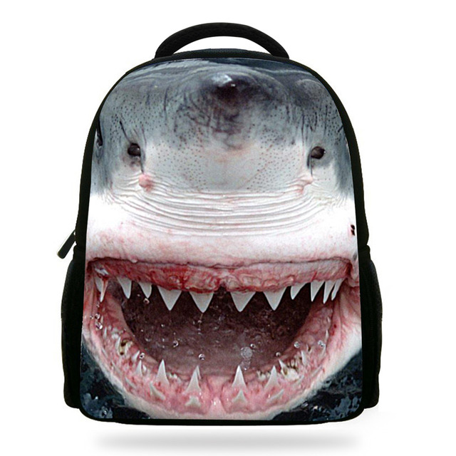 45d3b2a5e17f 14inch Great White Shark Backpack Animal School Bags Casual Teenage  Backpack Children Bags For Boys Mochila Infantil Menino