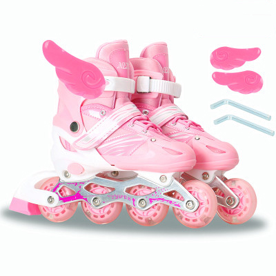 Kid Roller Skating shoes lighting flash wheel outdoor toy Skateboard Protective Adjustable Guard Gear Children Cycling Sports adult children teenagers inline ice skate shoes helmet protective gear sets knee protector adjustable washable flash wheels