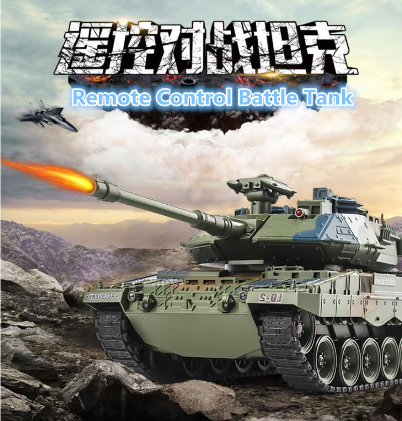 2018 47cm Large Remote Control Battle Tank 2.4G Simulation Smoke Bullet Tracked Off-Road Recharge RC Tank Military Model Toy2018 47cm Large Remote Control Battle Tank 2.4G Simulation Smoke Bullet Tracked Off-Road Recharge RC Tank Military Model Toy