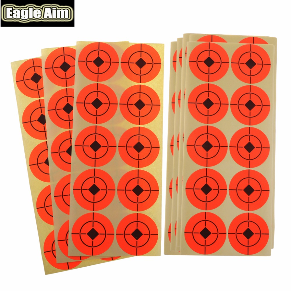 Image 4 - 2 Inchx 500pcs Shooting Target Paper Orange Florescent Self Adhesive Targets Stickers for Airsoft BB Gun Shooting Targets-in Paintball Accessories from Sports & Entertainment