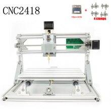 Kontrola Diy CNC maszyna CNC 2418 GRBL, obszaru roboczego 24x18x4.5 cm, 3 Osi Pcb frezarka pcv, Drewno Router, Rzeźba Grawera, v2.5
