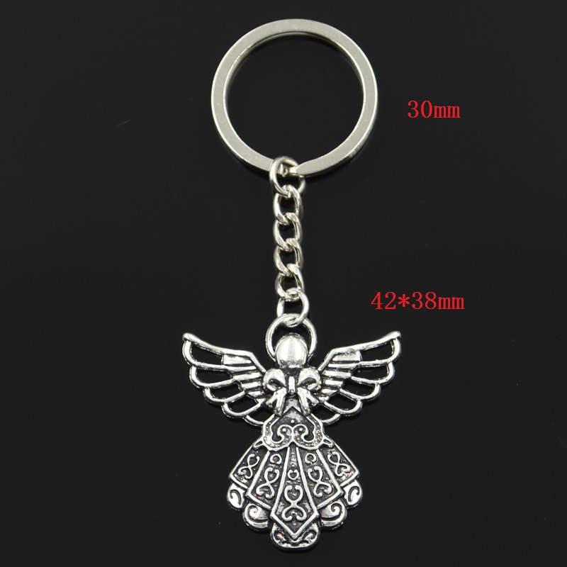 Key chain ring angel guardian friendship gift lucky pendant charm fairy