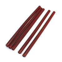 Red Chromium Alloy Mould Flat Wire Compression Spring 14mmx8 5mmx300mm 5 Pcs