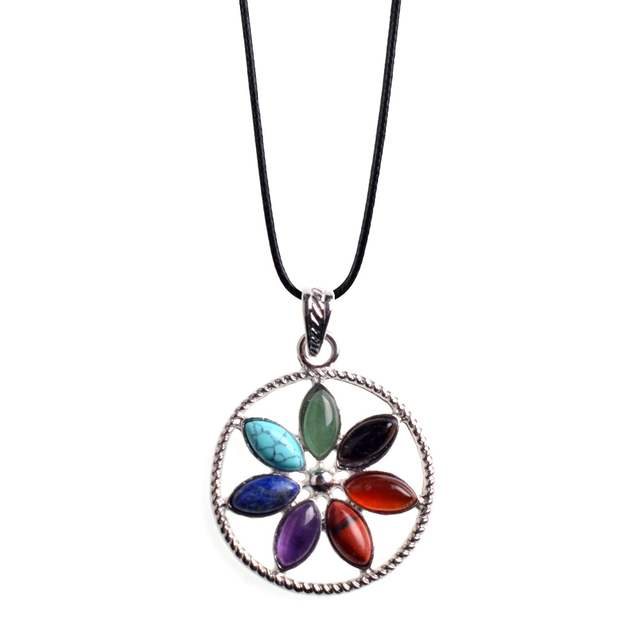 US $2 89 |2017 New Natural Stone Pendant Necklace Women Healing Crystals  Necklaces Semi Precious Stone Jewelry Can be customized Lol-in Pendants  from