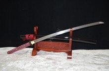 41″ Damascus Folded Steel Blade Japanese Samurai Katana Practical Sword Sharp Knife Battle Ready full tang
