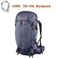 Сильный кислорода боль 50 + 10L рюкзак Открытый легкие дышащие pes подвеска Альпинизм дважды плечо спортивная сумка & дождевик