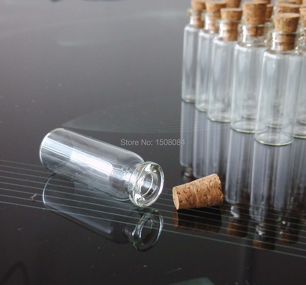 100 PCS 2 ml small glass vials with cork tops tiny bottles Little empty jars 100pcs 4ml small glass vials with cork tops bottles little empty jars 22 25mm