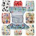 Bebé Un Tamaño Reutilizable de Tela Cubierta DEL PANAL Wrap Para Uso Con Planos o Equipado Pañal Pañal