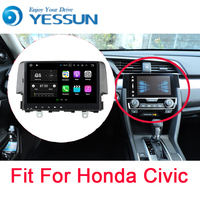 YESSUN Car Navigation GPS For Honda Civic 2016~2017 Android HD Touch Screen Audio Video Radio Stereo Multimedia Player No CD DVD