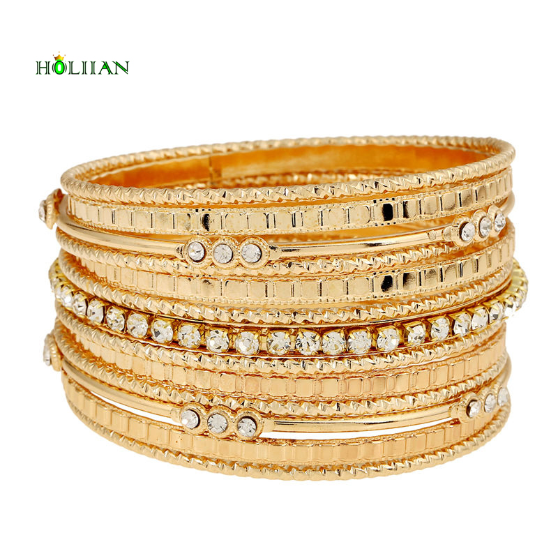 2017 new carter love bracelet&bangles crystal arm cuff big Gold-color egyptian bangle set Indian women jewelry modern pulseiras